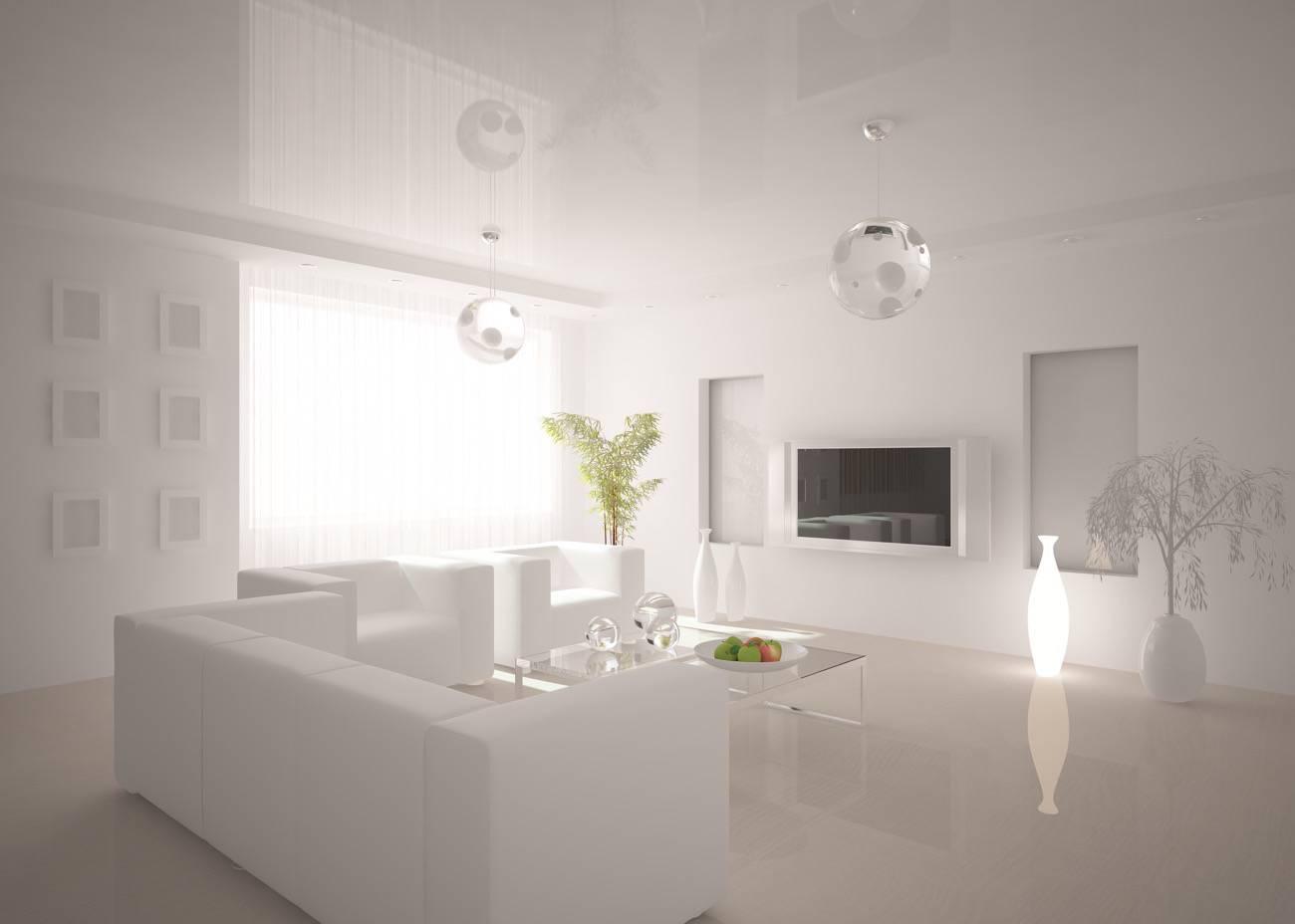 sala de estar color blanco