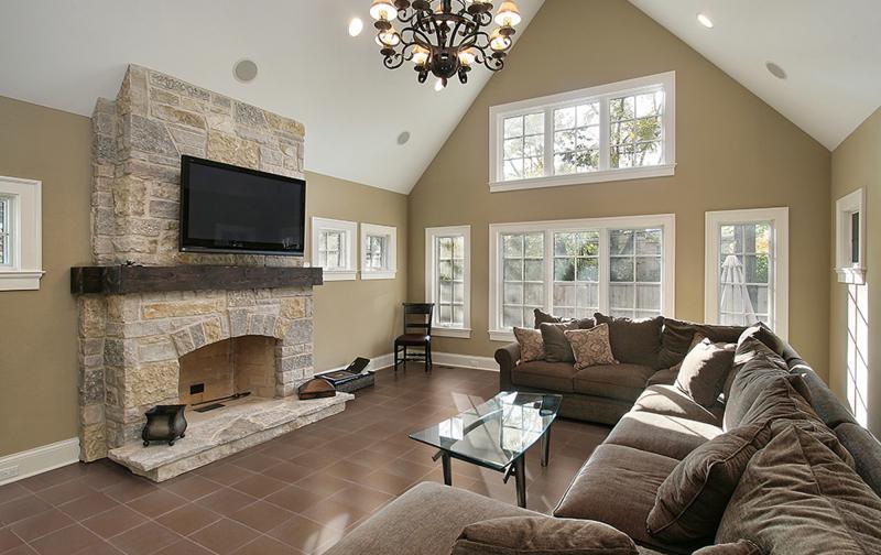 sala de estar estilo rustico