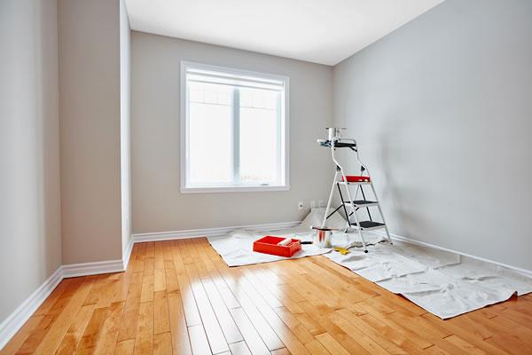 cuarto neutro preparado para pintar