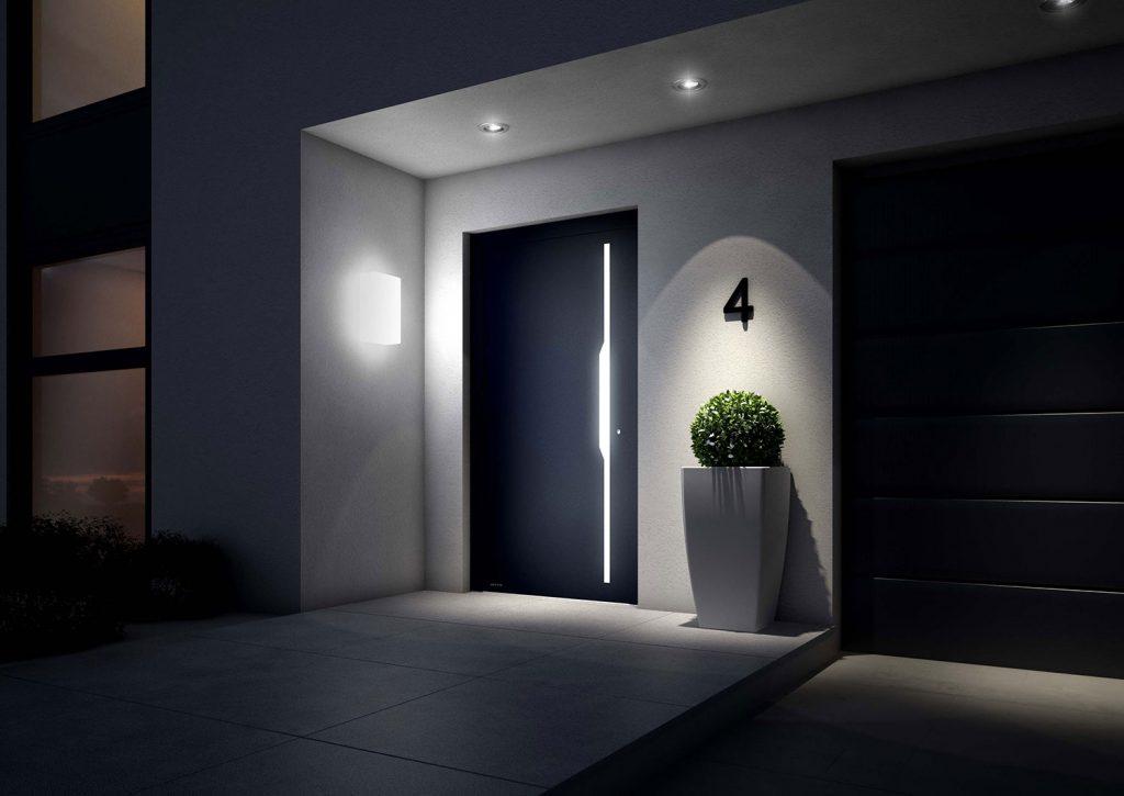 entrada de casa moderna