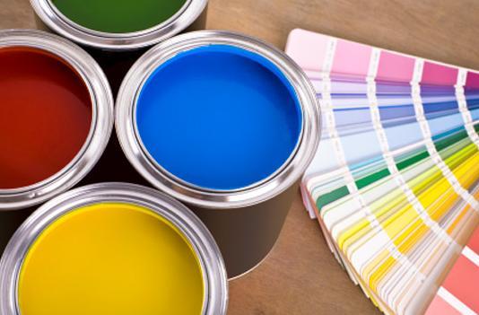 selección de pintura y paletas